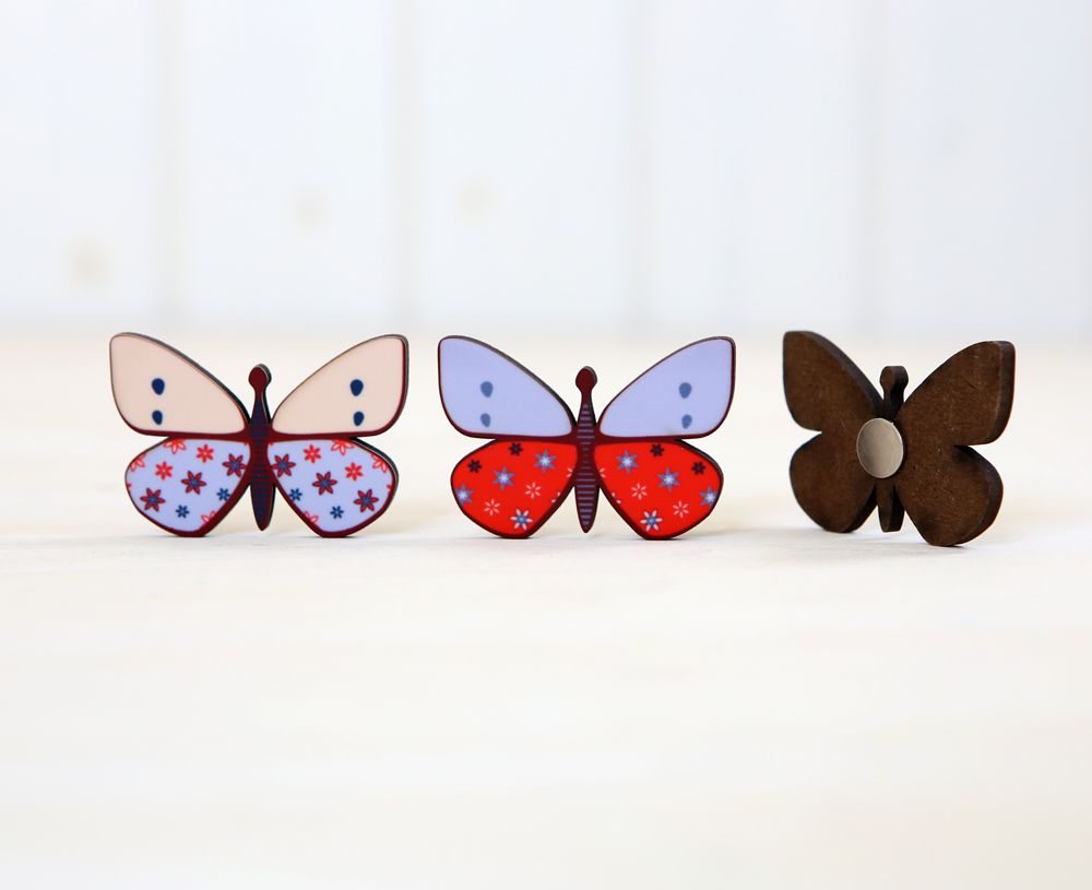 שלושה פרפרים - מגנטים