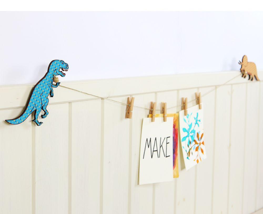 Dinosaur themed room design art hanger