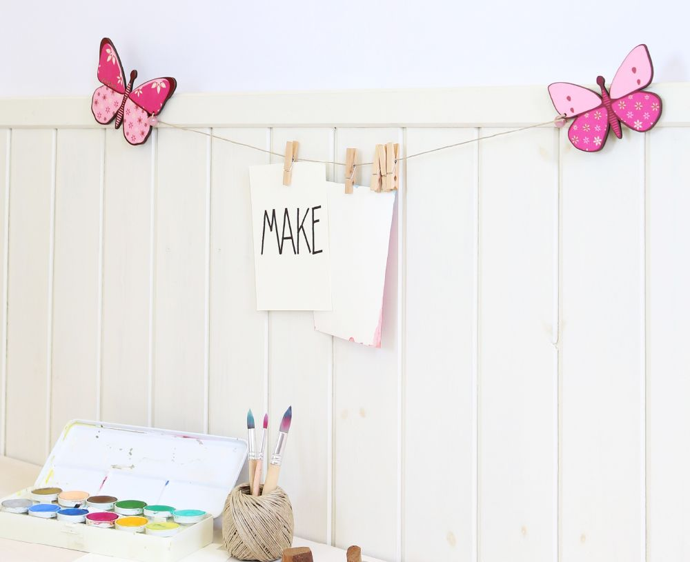 Girl's butterfly room design