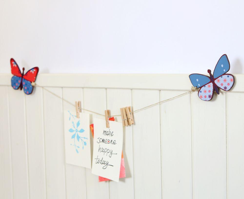 Butterflies art display hanger