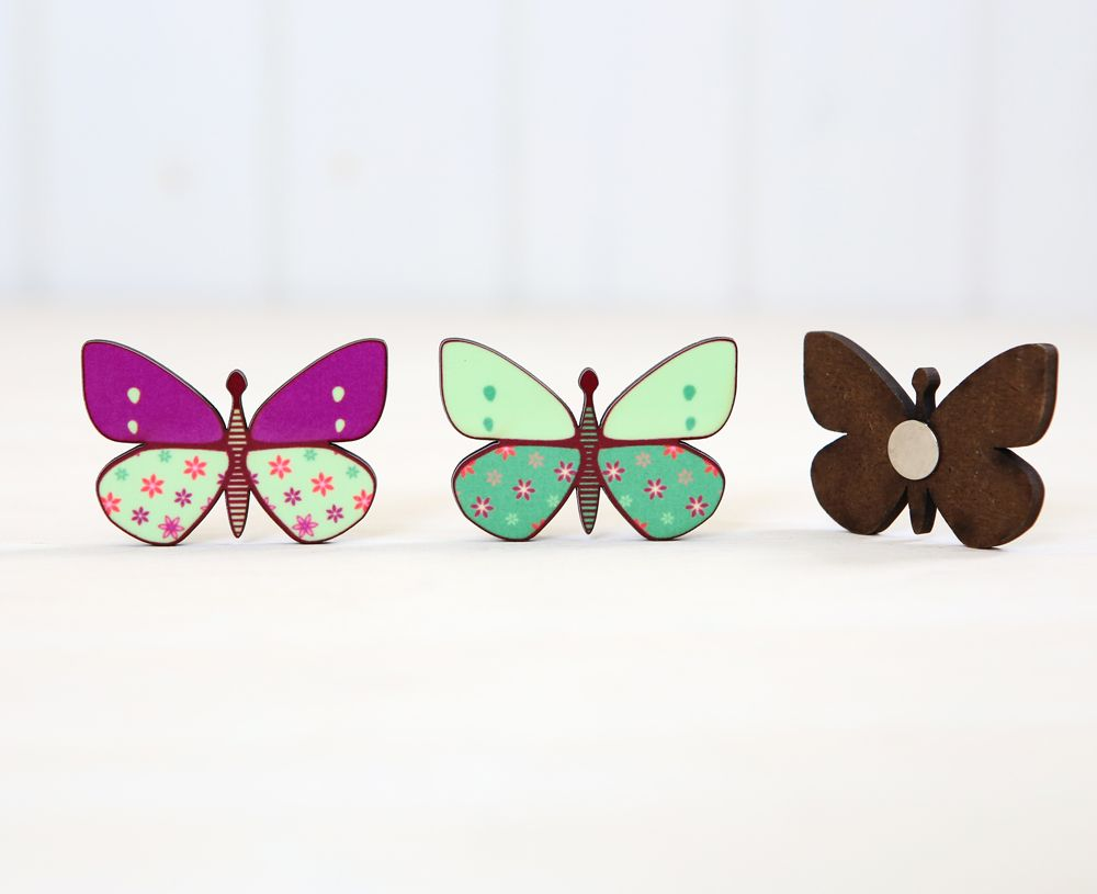 Butterfly shaped magnets