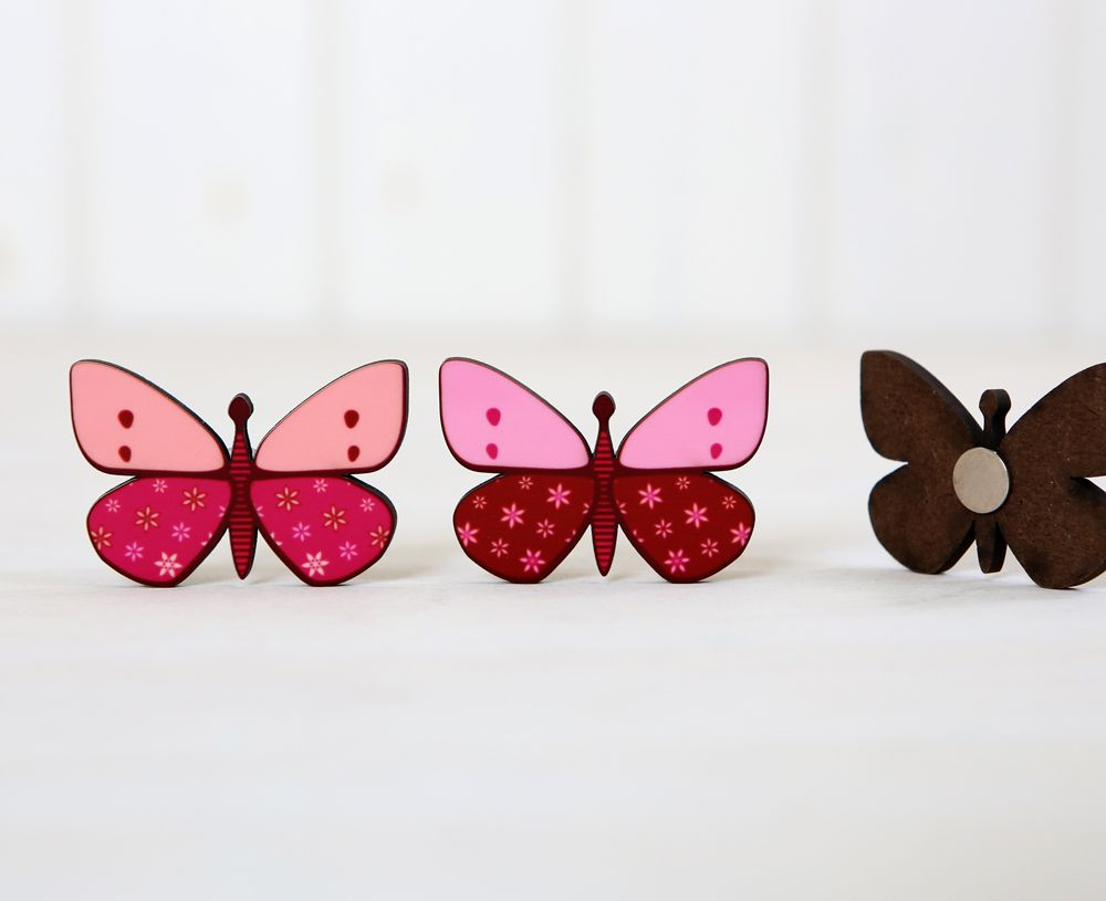 Butterfly magnets for magnetic board