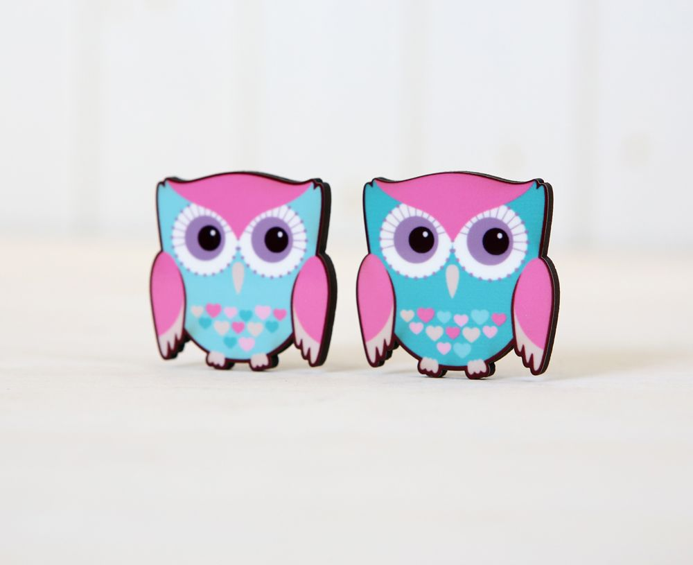 Pair of owls magnets