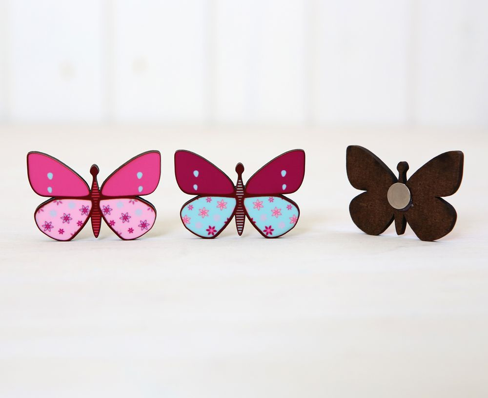 Set of three butterfly magnets, hostess perfect gift!