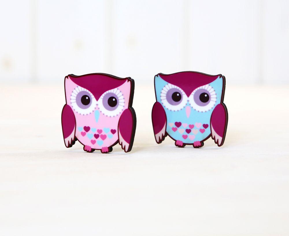 Owls - Refrigerator magnets
