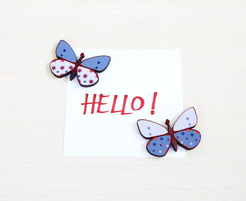 Upgrade your working space with butterfly magnets!