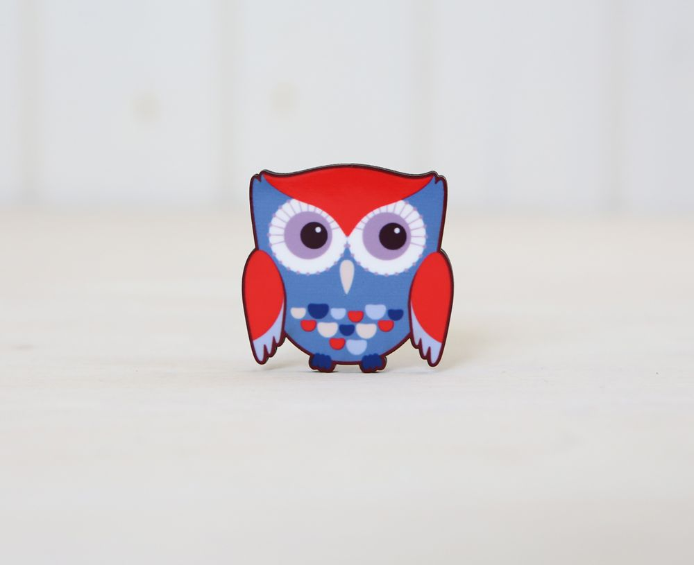 Cute owl magnets