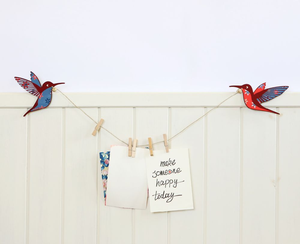 Hummingbirds notes display hanger