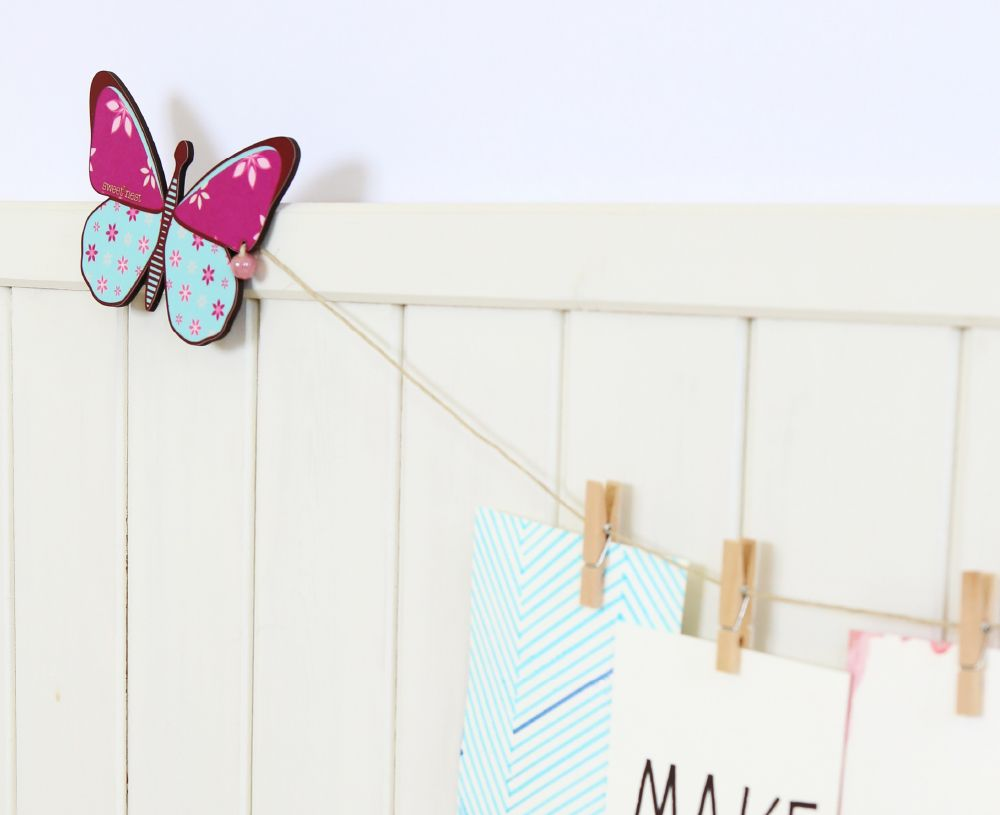 Butterflies wall decor artwork display