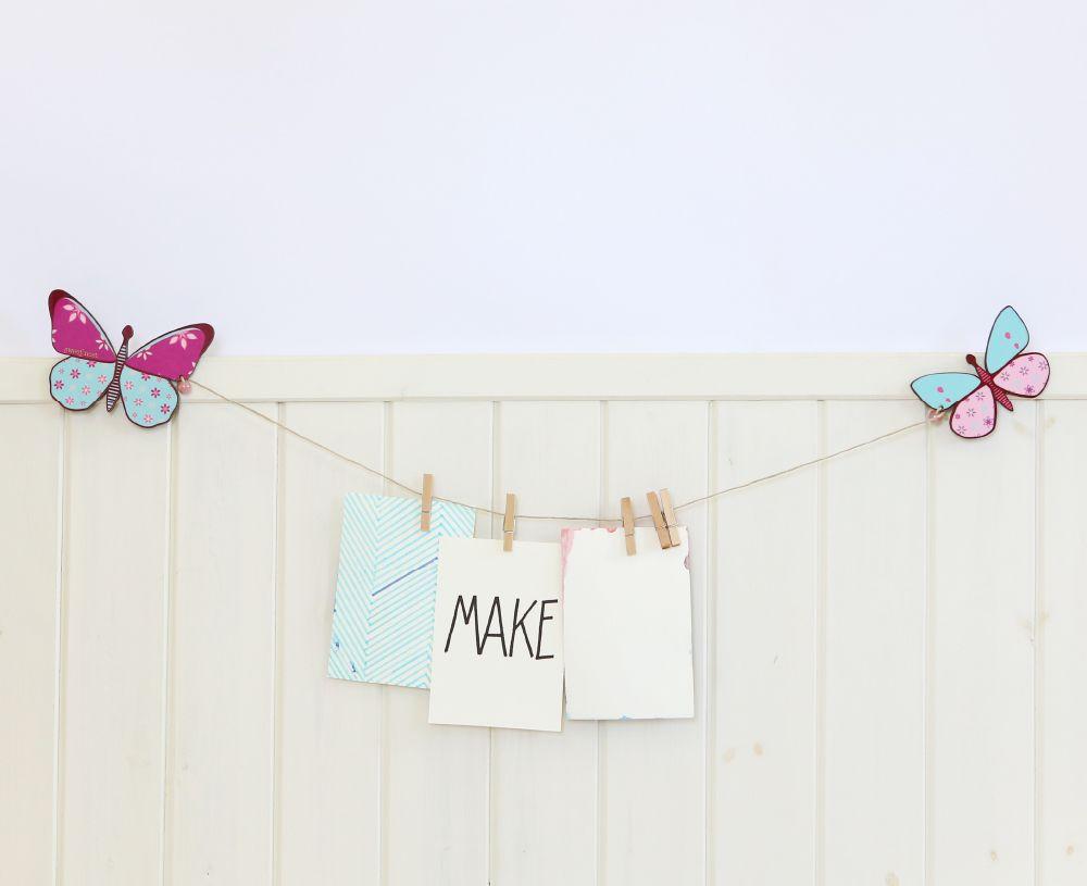 Butterflies wall decor artwork display